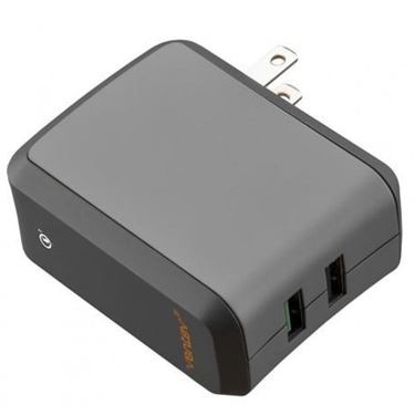 Ventev Wall Charger 2Port 3A 18W Qualcomm 3.0 w/USB-A to C