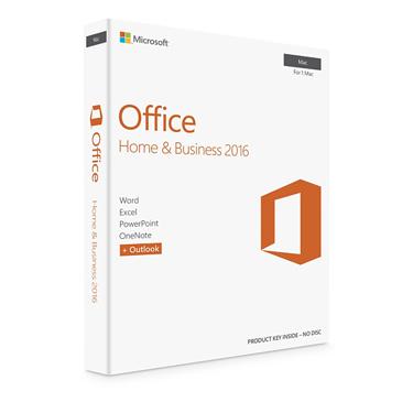 Microsoft Office 2016 Home & Business Mac PKC English