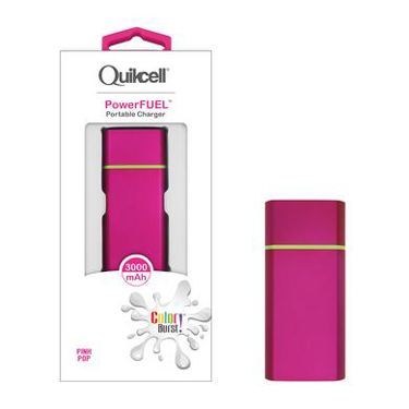 Colour Burst PowerFuel 3000mAh Portable Power Bank Pink