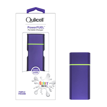 Colour Burst PowerFuel 3000mAh Portable Power Bank Purple