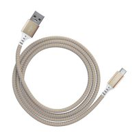 Ventev Charge & Sync USB-A to USB-C 2.0 Alloy 4ft Gold
