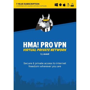 Avast HMA Pro VPN 2018 1-Year