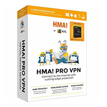 AVG HMA Pro VPN w/AVG Internet Security 1Yr BIL
