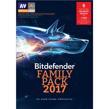 Bitdefender Family Pack 2017 Unlimited Devices 1Yr