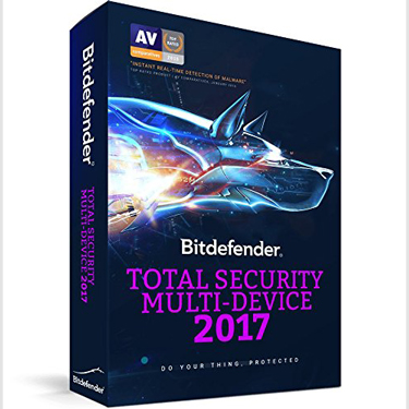 Bitdefender Total Security 2017 Multi-device 5-User 3Yr