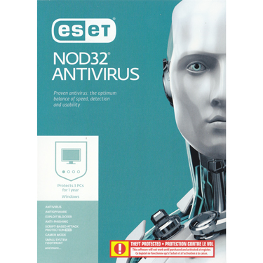 Eset Nod32 Antivirus V10 3-User 1Yr BIL Pre-activated