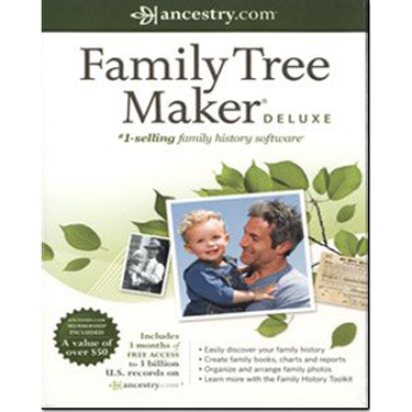 Family TreeMaker Deluxe 2011 Canadian English Software BIL