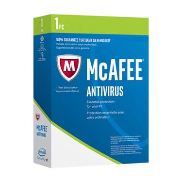 Mcafee Antivirus 1-User 1Yr