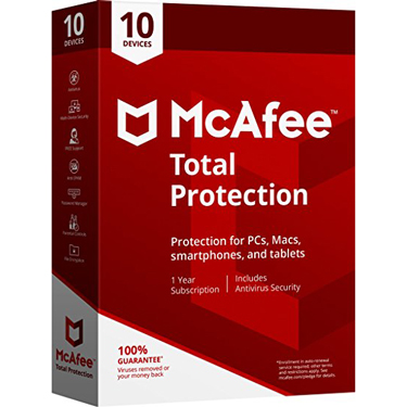 Mcafee Total Protection 10-Device 1Yr