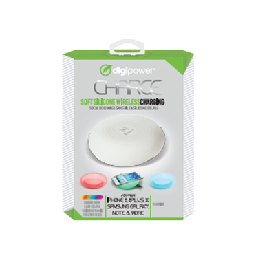 Digipower Wireless Charger Silicone Pad 5W LED w/MicroUSB