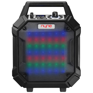 Nyne Racer BT 30W Party Speaker Blk w/Wheel