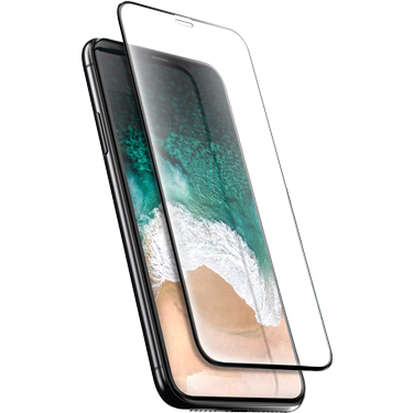 Nitro iPhone X Tempered Glass Black Bezel