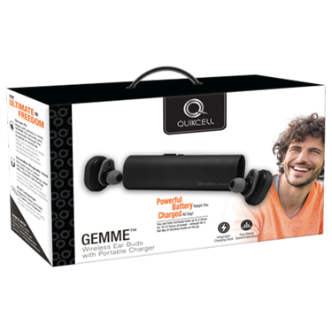 Quikcell Ear Buds GEMME True Wireless w/Portable Charger