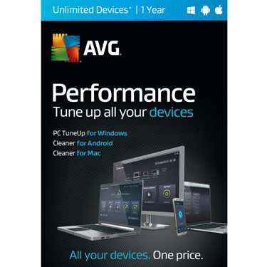 AVG Performance Tuneup & Clean Unlimited Device 1Yr BIL