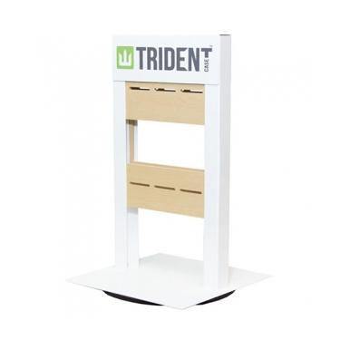 Trident Countertop Display Metal White 8 Peg Hooks
