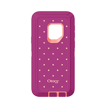 OtterBox Galaxy S9 Defender Coral/Red (Coral Dot) Metallic