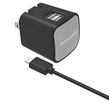 Digipower Wall Charger 2.4amp InstaSense w/Lightning Cable