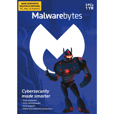 Malwarebytes Premium 3-User 1Yr PC/Mac/Android BIL