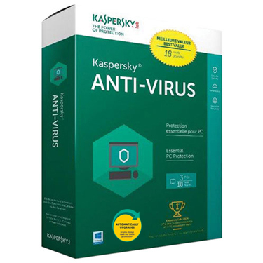 Kaspersky Antivirus 2019 3-User 18 Months BIL