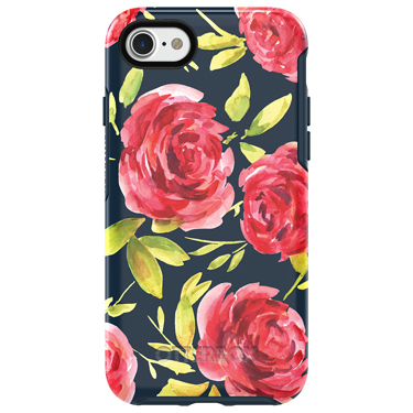 OtterBox iPhone 7/8 Symmetry Blue/Blue Rose Bouquet