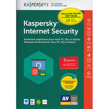 Kaspersky Internet Security 2019 3-User 18 Month BIL