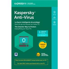 Kaspersky Antivirus 2020 1-User OEM Tech Bench BIL