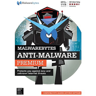 Malwarebytes Premium 3-User 1Yr White Box