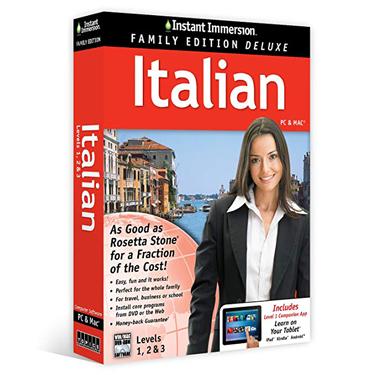 Instant Immersion Family Edition Italian 1-3 BIL
