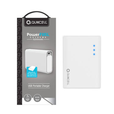 Quikcell PowerFuel 5200mAh Portable Power Bank White