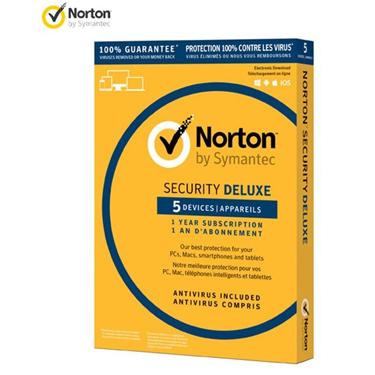 Norton Security Deluxe 5-User 1-Year PKC BIL