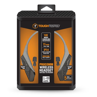 Tough Tested Earbud Bluetooth Neckband w/10x Noise Canceling