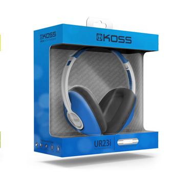 Koss Headphone UR23iB On Ear Full Size w/mic Blue