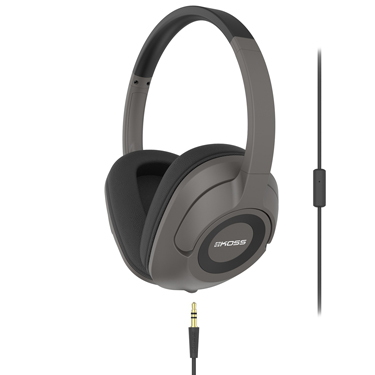 Koss Headphones UR42i On Ear w/mic Black detach cord