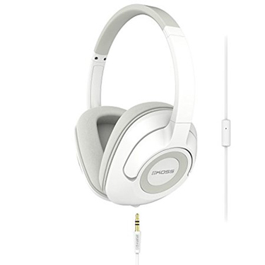 Koss Headphones UR42i On Ear w/mic White detach cord