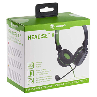Snakebyte XBoxOne GamHeadset on Ear Blk/Green 4039621913099
