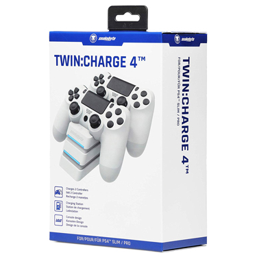 Snakebyte PS4 Twin Charge 4 White