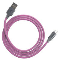 Ventev Charge & Sync Micro USB Cable 4ft Alloy Magenta