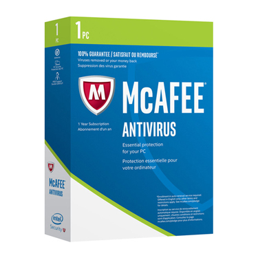 Mcafee Antivirus 1-User 1Yr English