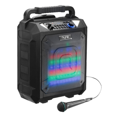 Nyne Max BT 100W Party Speaker Blk w/Wheel