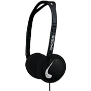 Koss Headphone KPH25 Portable Over Head Folds Flat Black