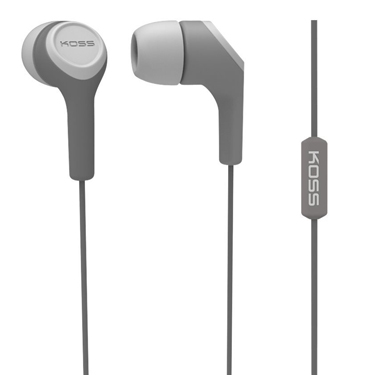 Koss Earbud KEB15 in Ear w/Mic Gray