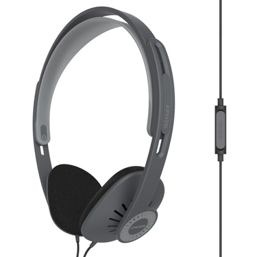 Koss Headphone KPH30i Portable On Ear Grey w/Mic Remote