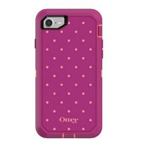 OtterBox iPhone 7/8 Defender Coral/Red Coral Dot Metallic