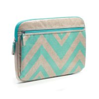 Studio C Laptop Sleeve 13-14in Chevron Linen/Aqua