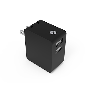 iEssentials Wall Charger 3.4amp 2 Port Black