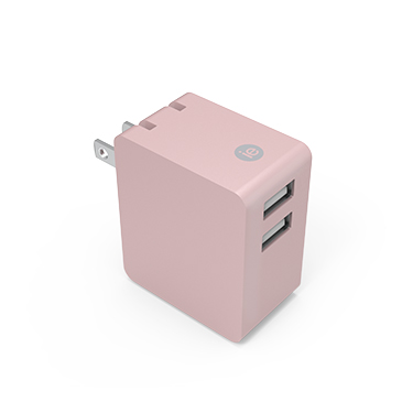 iEssentials Wall Charger 3.4amp 2 Port Rose Gold