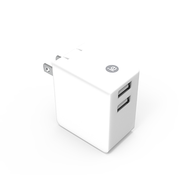 iEssentials Wall Charger 3.4amp 2 Port White