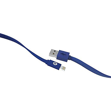 iEssentials Charge & Sync Cable Lightning Flat 4ft Blue