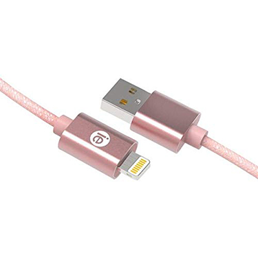 iEssentials Charge & Sync Cable Lightning Braid 6ft RGld