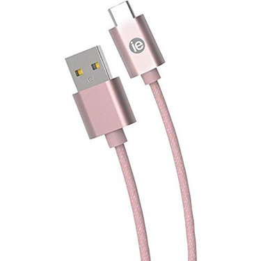 iEssentials Charge & Sync Cable USB-C - A Braid 10ft RGd